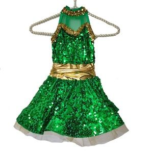 Weissman Sequin Dance Dress Costume Pageant Child